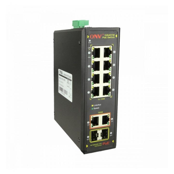 8ми портовый PoE коммутатор ONV-IPS31108PFB, 8 портов РоЕ 100 Мбіт