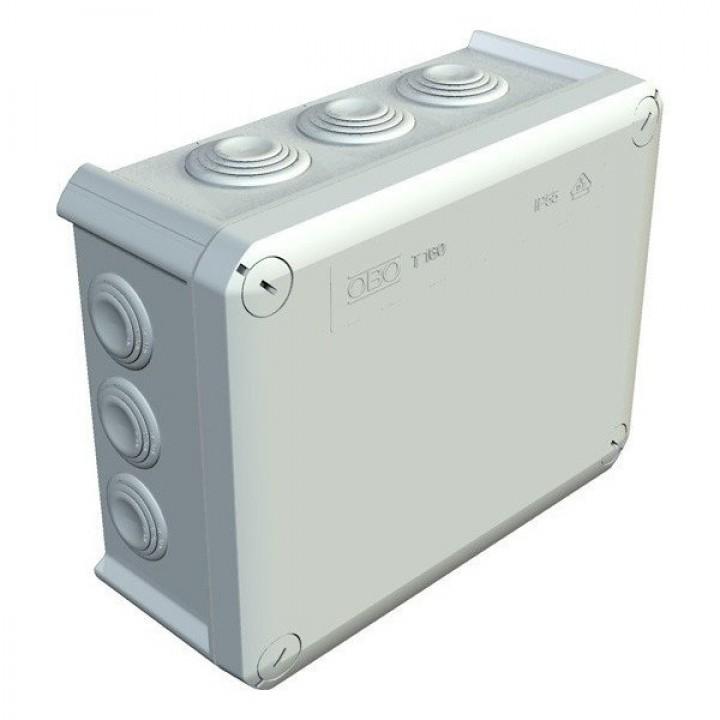 Коробка распределительная наружная Т160 190Х150Х77 IP66 OBO Bettermann цвет белый