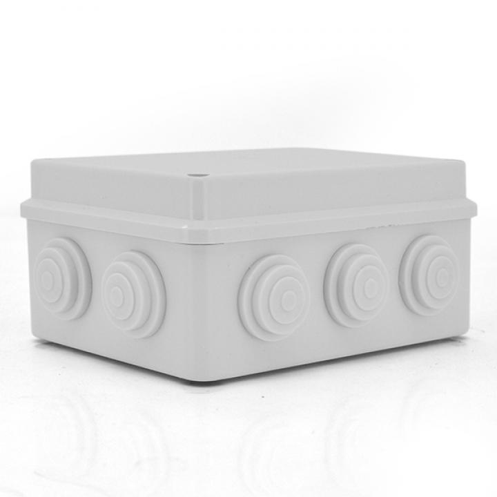 Коробка распределительная наружная YOSO 200x155x80 IP65 цвет белый, 10 отверстий, соски в комплекте, BOX, Q60