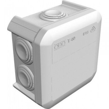 Коробка распределительная наружная Т40 90х90х52 IP66 OBO Bettermann цвет белый