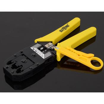 Инструмент Merlion BS-346 для обжимки RJ-45 (8P8C) и RJ-12/11 (6P6C), 4P/6P/8P. Желтый