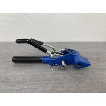 Натяжитель бандажной ленты. Инструмент для натяжения, загибания и обрезки стальной бандажной ленты. (типа PCL)  SM-121