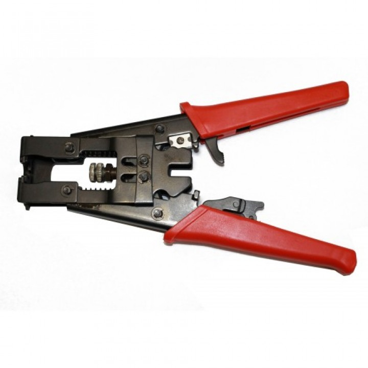 Инструмент для закрепления на кабеле компрессионных разъемов серий F, BNC и RCA