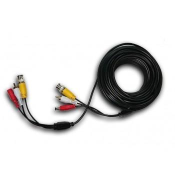 Патчкорд комбинированный коаксиальный+питание+звук BNC+DC+AV 5m, черный
