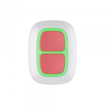 Беспроводная экстренная кнопка Ajax DoubleButton white с защитой от случайных нажатий