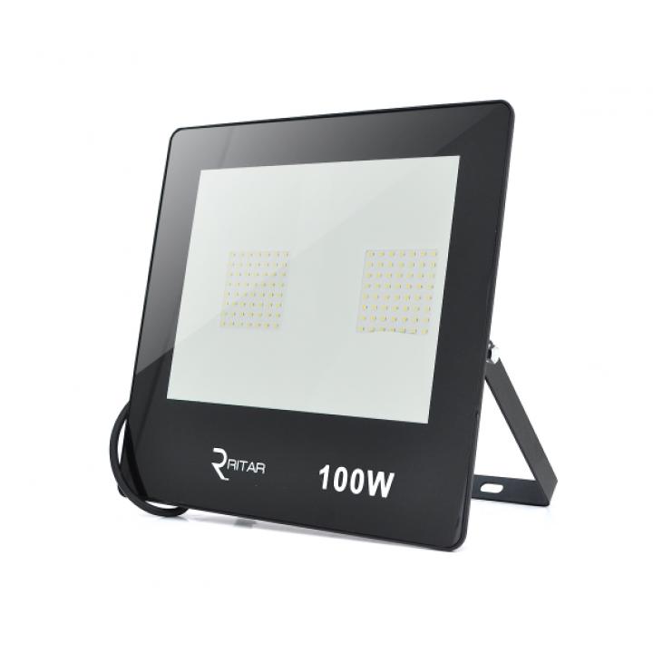 Прожектор SLIM LED RITAR RT-FLOOD100A, 100W, 112xSMD2835, IP65, 8000Lm