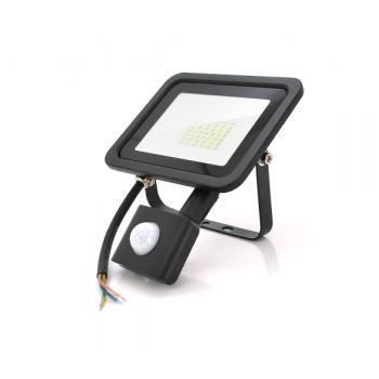 Прожектор SLIM SENSOR LED RITAR RT-FLOOD/MS30A, 30W, 36xSMD2835, IP65, 3000Lm, 6500K