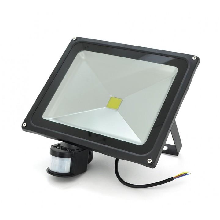 Прожектор LED c датчиком движения RJ-G-50W, IP66, 6400K