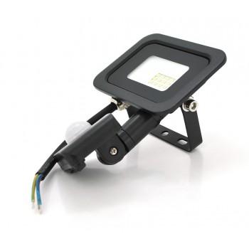 Прожектор LED c датчиком движения SLIM SENSOR LED RITAR RT-FLOOD/MS10A, 10W, IP65, 1000Lm, 6500K